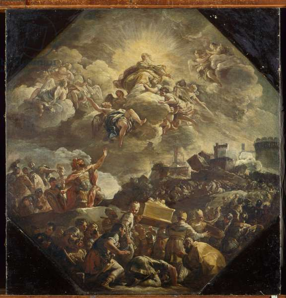 The transport of the Ark of the Covenant, 1693-94 (oil on canvas)