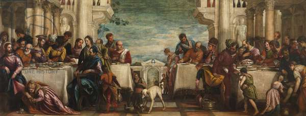 Supper in the House of Simon, 1570 (oil on canvas)