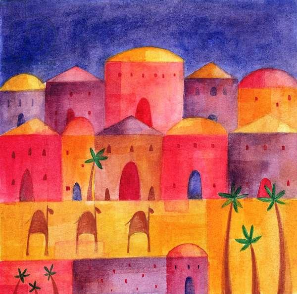 Bethlehem by Starlight, 2001 (w/c)