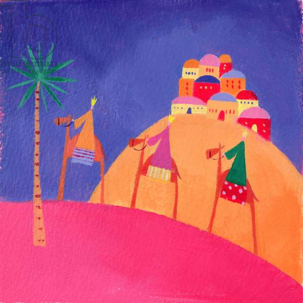 Kings on Camels, 2001 (acrylic)