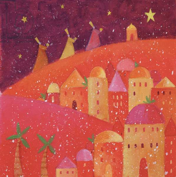 Three Kings Following a Star, 2001 (acrylic)