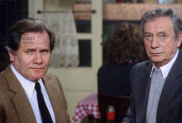 Bernard Fresson et Yves Montand