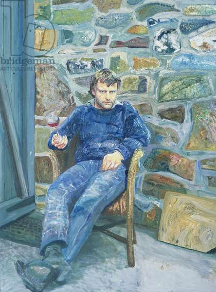 Portrait of Peter Reading, 1989 (oil on canvas)