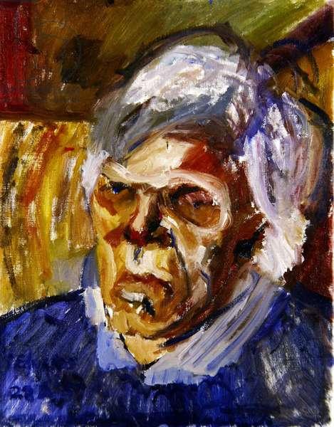 Portrait of John Heath-Stubbs, Version II (oil on canvas)