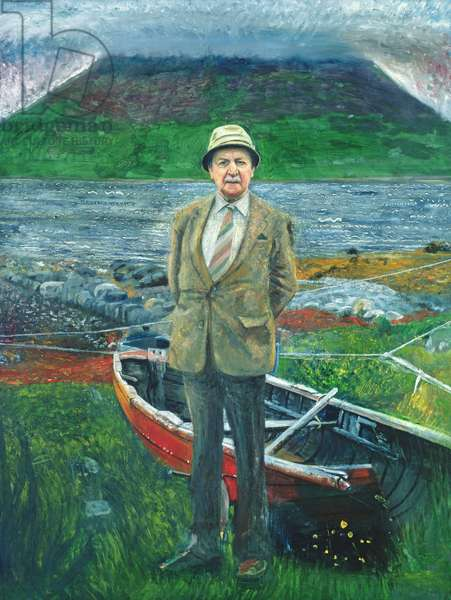 Portrait of Sorley Maclean (oil on canvas)
