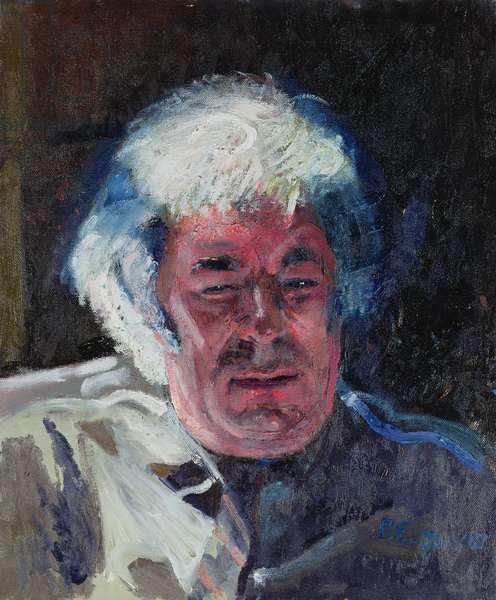 Portrait of Seamus Heaney, 1987 (oil on canvas)
