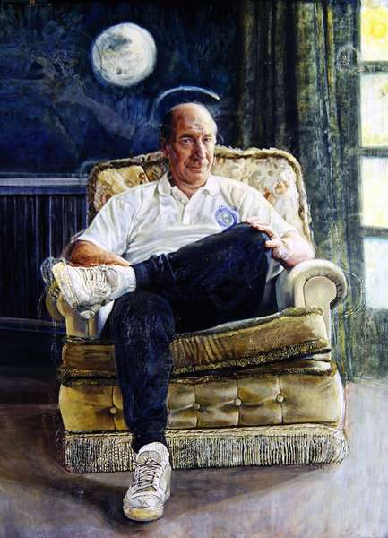 Portrait of Sir Robert ('Bobby') Charlton, 1991 (oil on canvas)