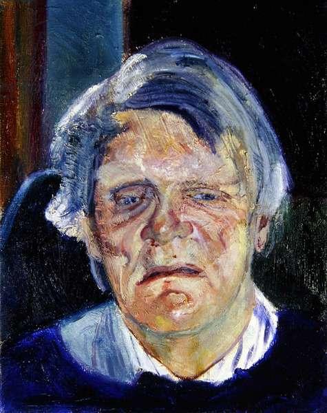 Portrait of John Heath-Stubbs, 1989 (oil on canvas)