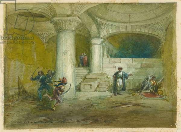 Passage under the Aksa, 1871 (w/c & pencil on paper)