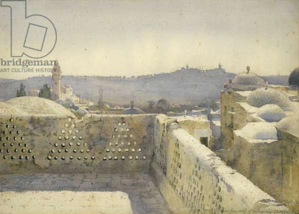 Mount of Olives from roof of Prussian Hospital, 7th September 1886 (w/c on paper)