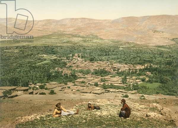 Zebdani in the Anti-Lebanon, c.1880-1900 (photochrom)
