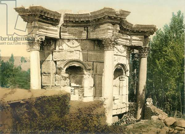 The unique circular temple at Baalbek, known as the Temple of Venus, c.1880-1900 (photochrom)