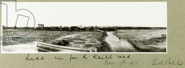 Ludd, view from the Ramleh Road, 17th November 1917 (b/w photo)