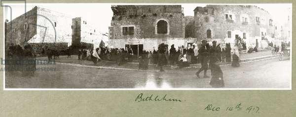 Bethlehem, 14th December 1917 (b/w photo)