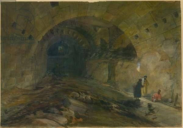 Wilson's Arch, Jerusalem, 1870 (w/c & pencil on paper)