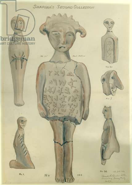 Shapira's Second Collection, 1873 (w/c & pencil on paper)