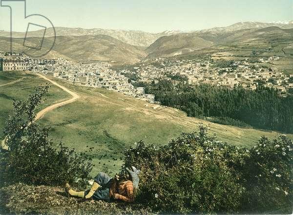 Zahleh, Anti-Lebanon, c.1880-1900 (photochrom)