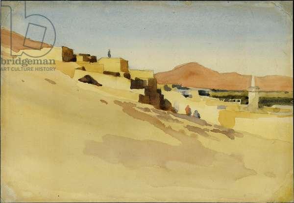Sahalieh, outside Damascus, November 1896 (w/c on paper)