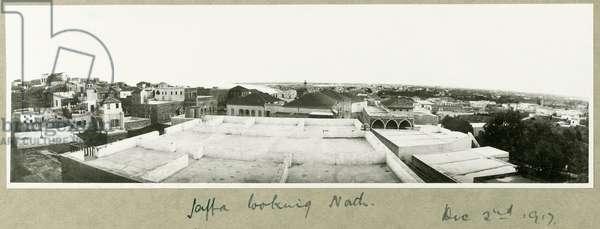 Jaffa looking North, 2nd December 1917 (b/w photo)