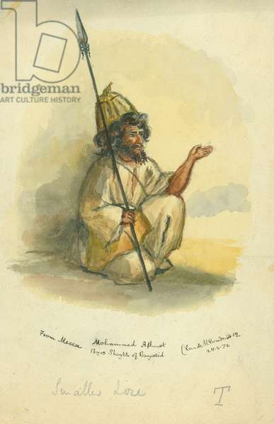 Mohammed Ahmet from Mecca, 1872 (w/c & pencil on paper)