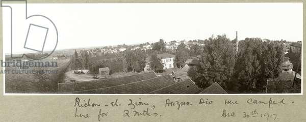 Richon-el-Zion, 30th December 1917 (b/w photo)