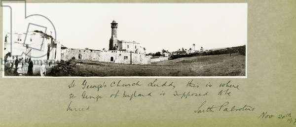 St. George's Church, Ludd, 2nd December 1917 (b/w photo)
