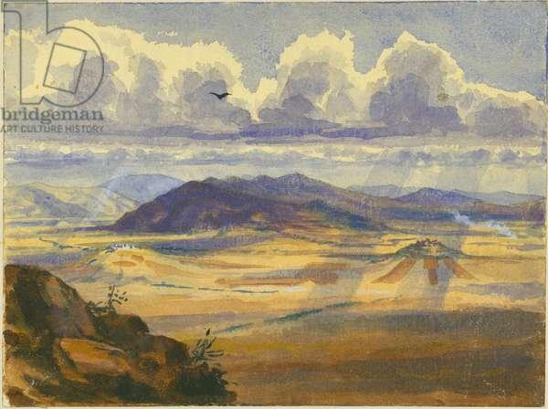 Jezreel Valley (w/c & pencil on paper)