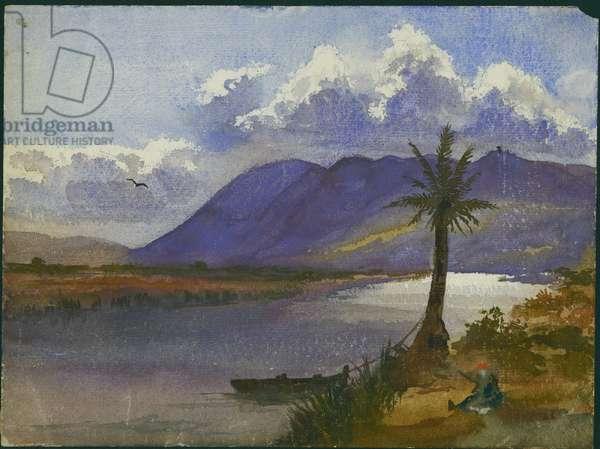 River Kishon and Carmel (w/c & pencil on paper)