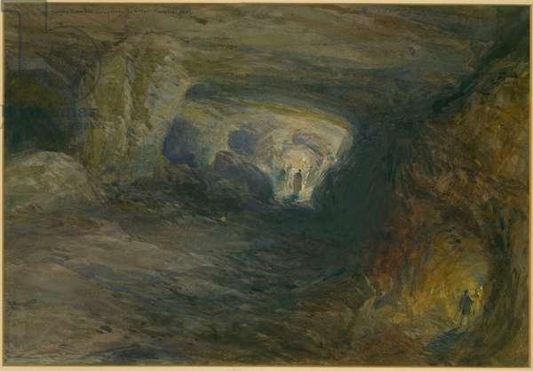 The Quarry Caverns, Jerusalem, 1869 (w/c & pencil on paper)