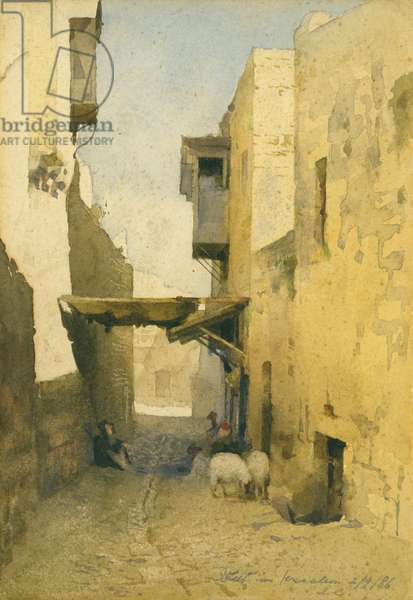 Street in Jerusalem, 2nd September 1886 (w/c on paper)