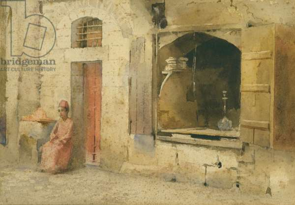 Street Coners in Jerusalem, 1886 (w/c on paper)