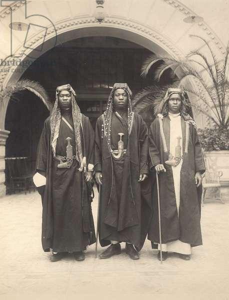 Sherif Abdullah's attendants, Jerusalem, 1921 (b/w photo)
