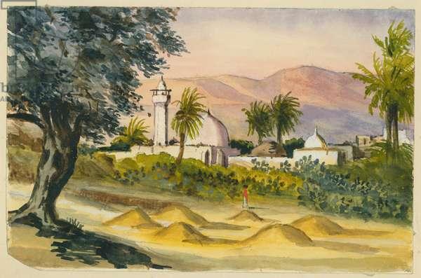 Desert town (w/c & pencil on paper)