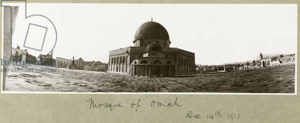 Mosque of Omar, 14th December 1917 (b/w photo)