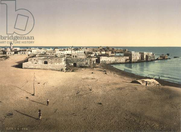 View of Tyre, c.1880-1900 (photochrom)