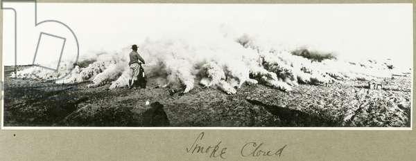 Smoke cloud, South Palestine, September 1917 (b/w photo)