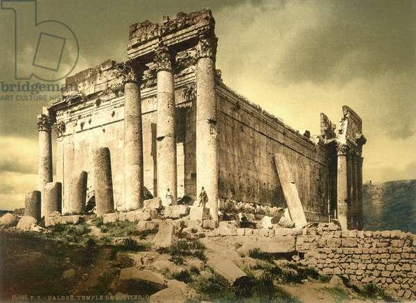Temple of Bacchus, Baalbek, c.1880-1900 (photochrom)