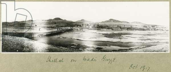 Shellal on the Wadi Guzzeh, October 1917 (b/w photo)