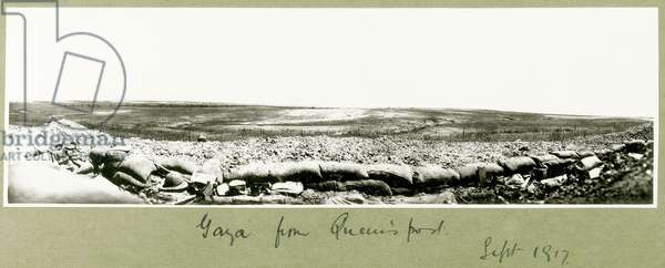 Gaza from Queen's post, September 1917 (b/w photo)