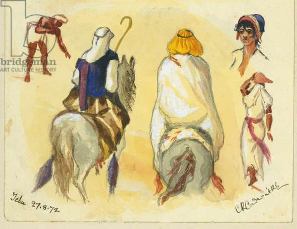 Jeba, 1872 (w/c & pencil on paper)