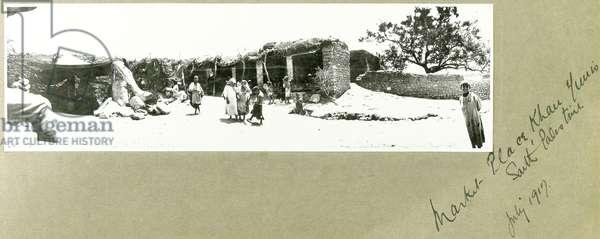 Market Place, Khan Yunis, South Palestine, July 1917 (b/w photo)
