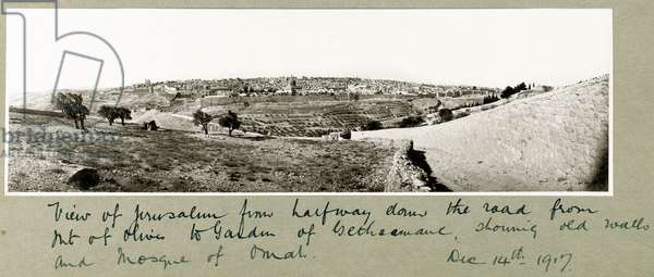 View of Jerusalem, 14th December 1917 (b/w photo)