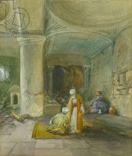 The Gate of Huldah the Prophetess, Jerusalem, 1871 (w/c & pencil on paper)
