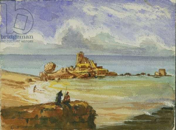 Ruins of Caesarea, 1873 (w/c & pencil on paper)