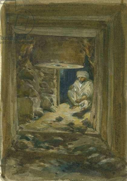 Gallery under Golden Gateway, Jerusalem, 1871 (w/c & pencil on paper)