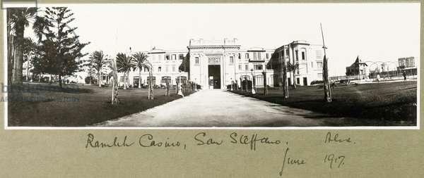 Ramleh Casino, San Stefano, June 1917 (b/w photo)