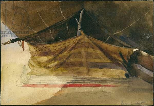 Bedouin Tent near Es-Salt, 1887 (w/c on paper)