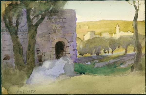 Outside Jerusalem, April 1897 (w/c on paper)
