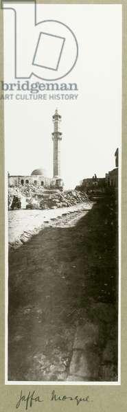 Jaffa Mosque, 1917 (b/w photo)