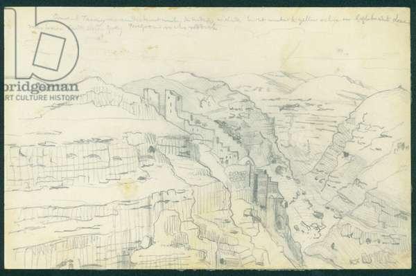 Mar Saba, 1873 (pencil on paper)